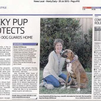 Article in the Manly Daily